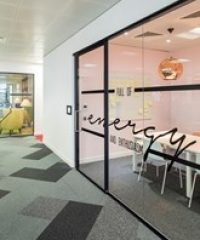 Aluminium-framed glazed partition systems