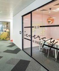 Aluminium-framed glazed partition systems