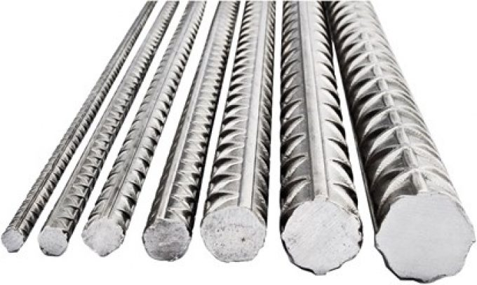 Steel rebar manufactured from steel TA42 and TA52