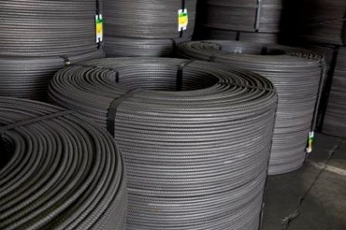 Streched coil electrowelded mesh cold roiled