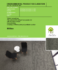 Tufted carpet tiles, pile material 590-690 g/m^2 polyamide 6.6