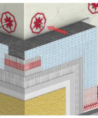 Exterior Thermal Insulation System (SATE) made of EPS