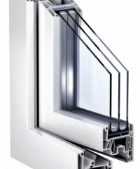 PVC window (1.23 m x 1.48 m with 76 mm profile)
