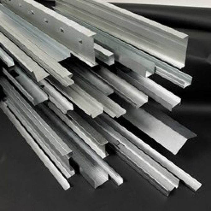 Gypframe metal framing components for gypsum plasterboard